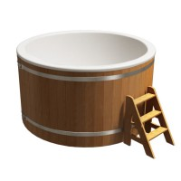 """Купель круглая с внешней печью 45 кВт """"Классик"""". Термососна"""